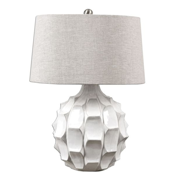 Guerina Scalloped White Lamp