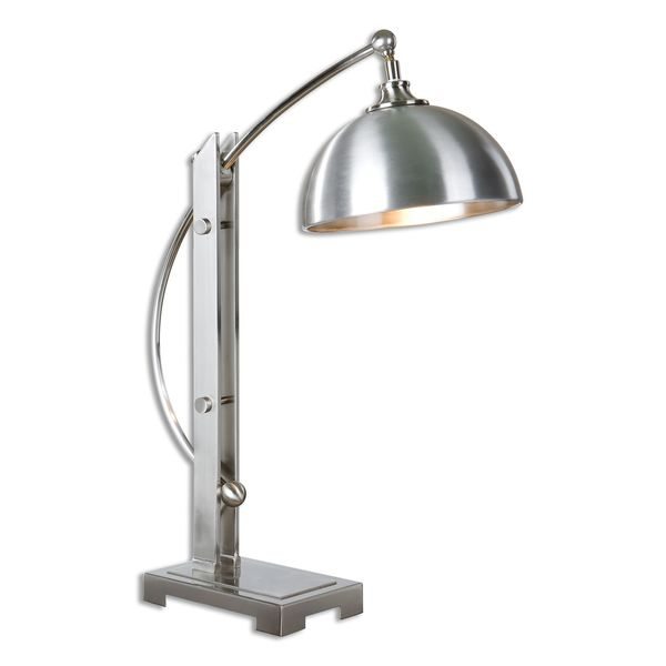 Malcolm Brushed Nickel Desk Lamp