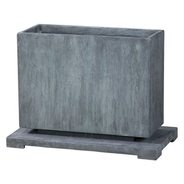 Vito Slate Blue Planter