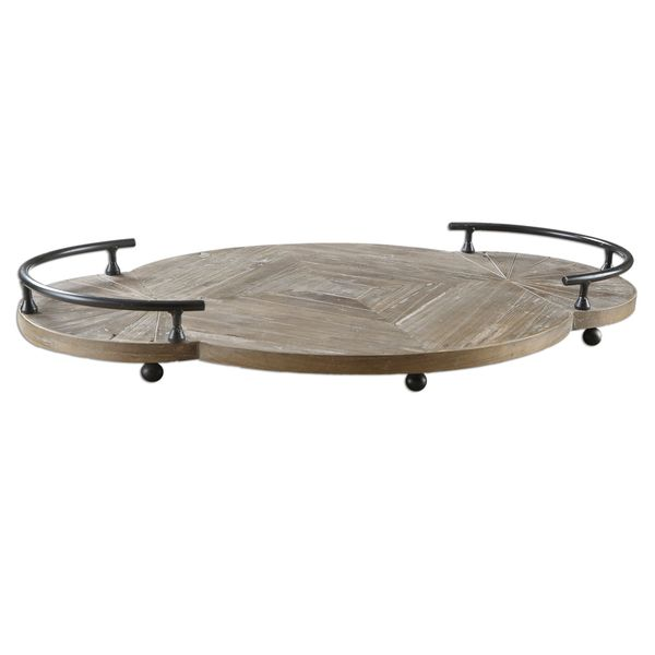 Baku Gray Pine Wooden Tray