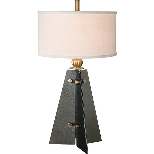 Everly Smoke Glass Table Lamp