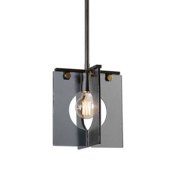 Vitrum 1-light Smoke Glass Mini Pendant