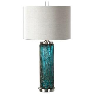 Almanzora Blue Glass Lamp