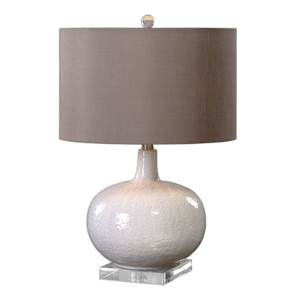 Parvati White Glaze Table Lamp