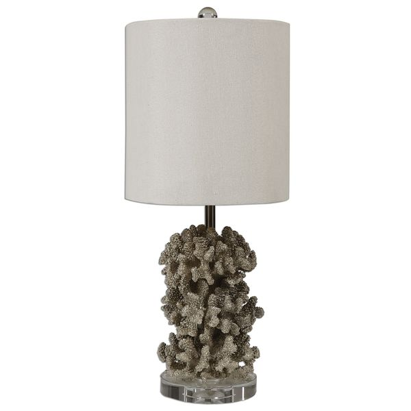 Silver Coral Table Lamp