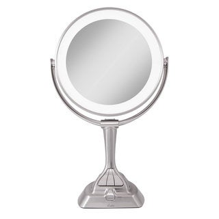 Conair Oval Chrome 1x 7x Double Sided Lighted Mirror