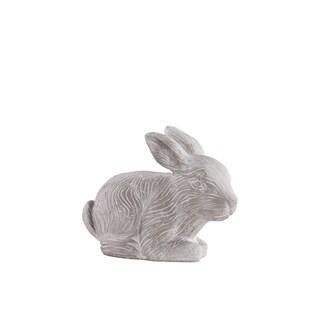 Grey Washed Concrete Terracotta Small Rabbit Figurine