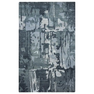 Rizzy Home Avant-Garde Collection AG8686 Grey and Blue Accent Rug (3'6 x 5'6)