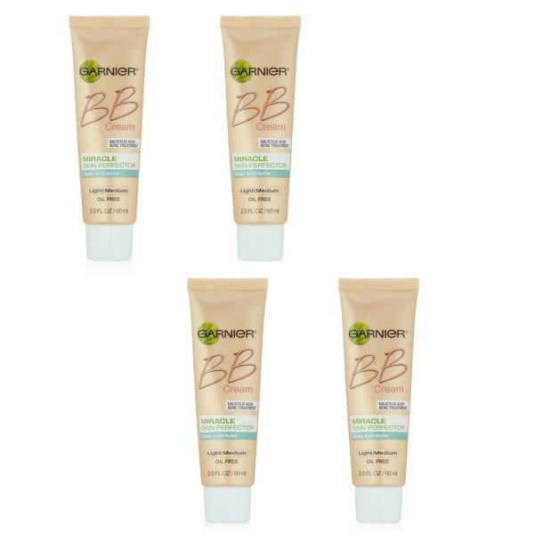 Garnier 2-ounce Miracle BB Cream Anti-Acne Medium/Deep (Pack of 4)