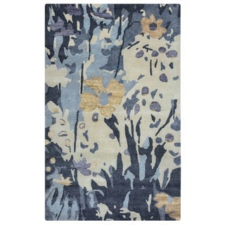 Rizzy Home Avant-Garde Collection AG8791 Blue and Ivory Area Rug (8'x 10')