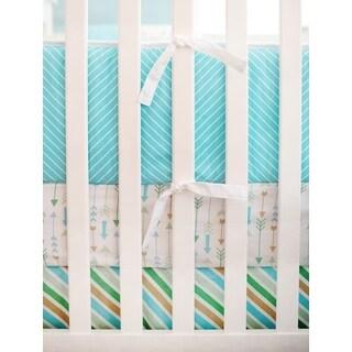 'My Baby Sam' Follow Your Arrow Aqua Crib Bumper