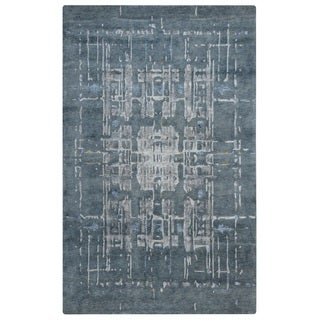 Rizzy Home Avant-Garde Collection AG8796 Blue and Grey Accent Rug (3'6 x 5'6)