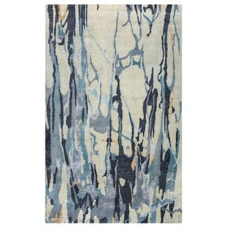 Rizzy Home Avant-Garde Collection AG8826 Ivory and Blue Accent Rug (2' x 3')