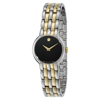 Movado Women's 0606933 Veturi Two-tone Stainless Steel Black Dial Watch