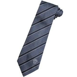 Versace 100-percent Italian Silk Grey Stripe Neck Tie
