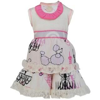 AnnLoren Paris Poodles and Lace Dress 18-inch Doll Clothing Set