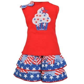 AnnLoren 4th of July Star Cupcake 18-inch Doll Clothing Set