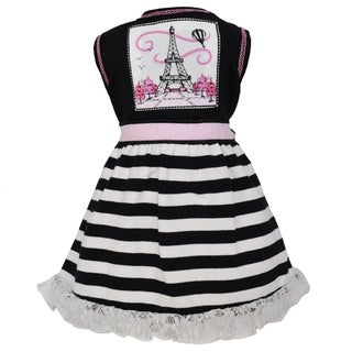 AnnLoren Paris Eiffel Tower Black Stripe 18-inch Doll Dress Set
