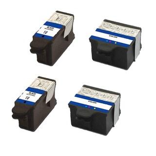 2 Set Kodak 1215581 #10 Black 1810829 #10 Color Compatible Ink Cartridge For Kodak Easyshare 5100 5300 ( Pack of 4 )