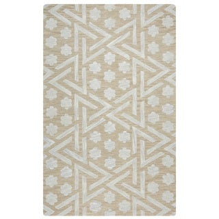 Rizzy Home Caterine Collection CE9485 Beige Area Rug (9'x 12')