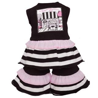 AnnLoren Paris Cafe Black Stripe 18-inch Doll Clothing Set