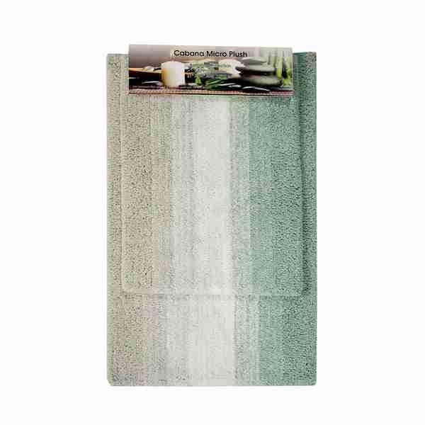 Cabana Striped Microplush Bathmat Sets
