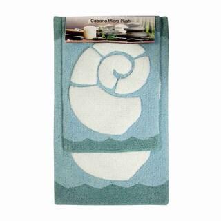 Cabana Seashell Microplush Bathmat (set of 2)