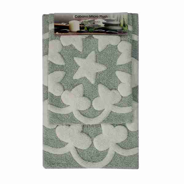 Cabana Star Microplush Bathmat Sets