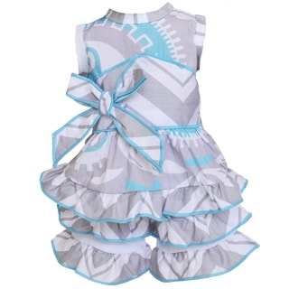 AnnLoren Blue and Grey Halter Shorts 18-inch Doll Clothing Set