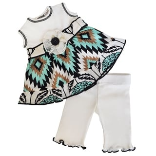 AnnLoren Aztec Dress and Leggings 18-inch Doll Clothing Set