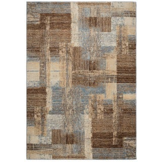 Rizzy Home Bennington Collection BI5563 Blue and Ivory Area Rug (9'2 x 12'6)