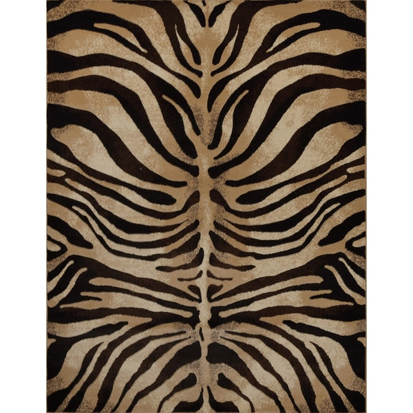 "Home Dynamix Tribeca Collection Black-Ivory (39"" X 55"" ) Machine Made Polypropylene Area Rug"