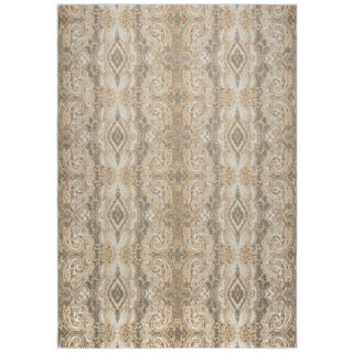 Rizzy Home Bennington Collection BI5568 Beige and Khaki Area Rug (6'7 x 9'6)