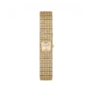 Michael Kors Women's MK3451 Cocktail Gold Dial Gold-Tone Crystal Pave Stainless Steel Bracelet Watch