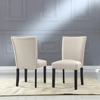 Sally Classic Upholstered Fabric Dining Side Chair (Set of 2)