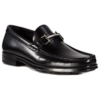 Salvatore Ferragamo Men's Morrice Black Leather Gancini Loafers
