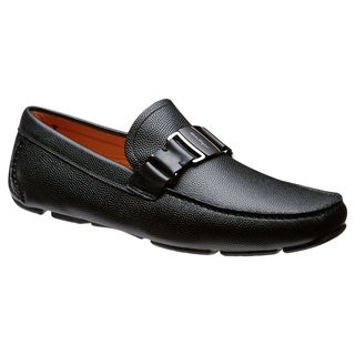 Salvatore Ferragamo Sardegna Black Pebbled Leather Loafers