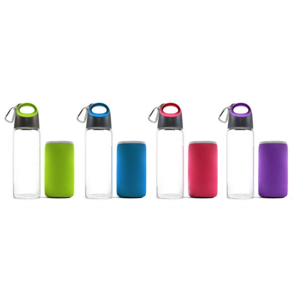 Carteret Collections Hot and Cold Glass Bottle with Sleeve