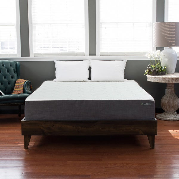 North American Pine Platform Mid-century Style Bed