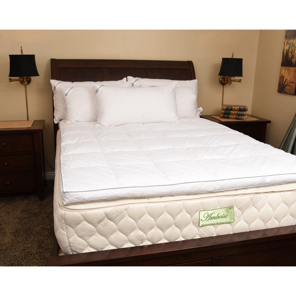 Downia Luxury White Goose Featherbed Mattress Topper (As Is Item)