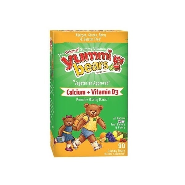 Yummi Bears Calcium + Vitamin D3 (90 Gummies)