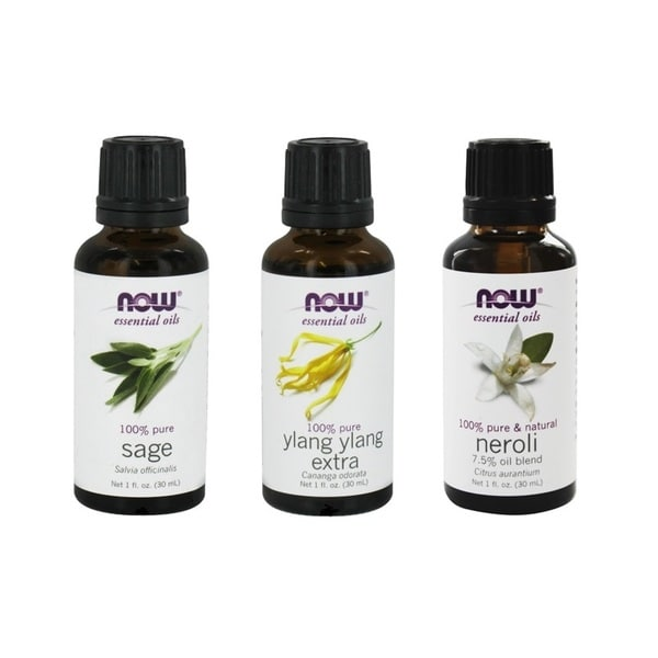 Now Foods 1-ounce Essential Oils 3-piece Sleep Set (Sage, Ylang-Ylang, Neroli Blend Oils)