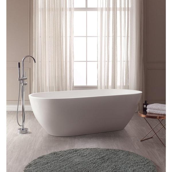 VersaStone Flux Solid Surface Oval Bathtub