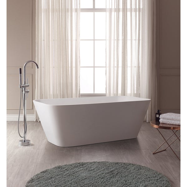 VersaStone Yoshi Solid Surface Rectangular Bathtub