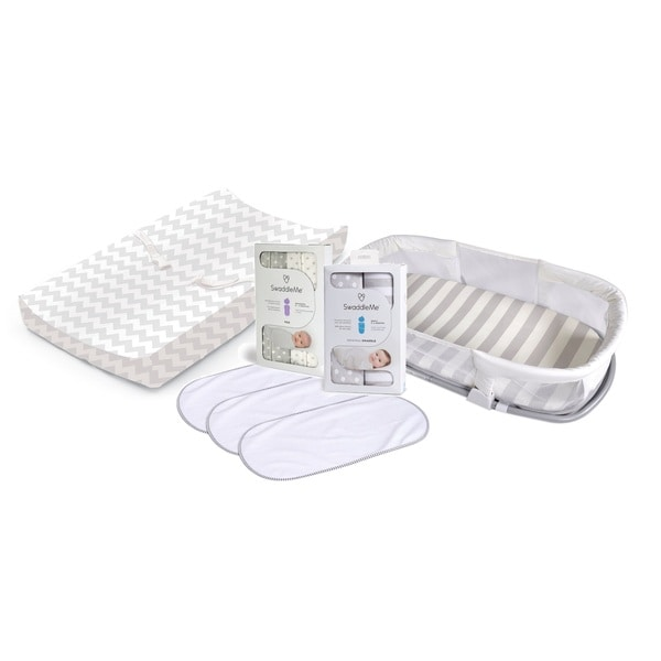 Summer Infant Grey SwaddleMe Sleeper and Changing Pad Set