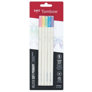 Tombow Irojiten Colored Pencils Soft Primary (Pack of 5)