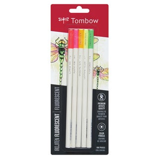 Tombow Irojiten Colored Pencils Fluorescent (Pack of 5)