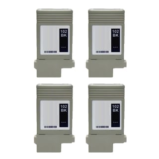4PK PFI-102BK Compatible Ink Cartridge For Canon ImagePROGRAF iPF 500 510 600 610 710 720 ( Pack of 4 )