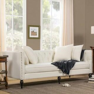 Jennifer Taylor Stanbury Star White Linen Sofa