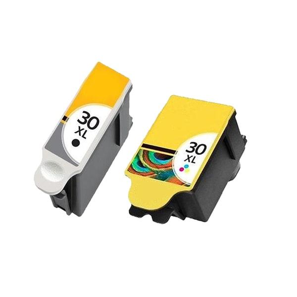 2 Pack Kodak 1550532 #30XL Black 1341080 #30XL Color Compatible Ink Cartridge For Kodak Hero 3.1 5.1 ( Pack of 2 )